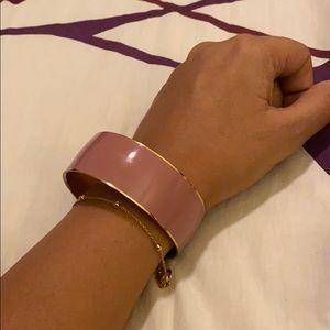 J.Crew dusty rose enamel bracelet